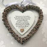 Shabby personalised Chic Special SISTER Present ~ ANY NAMES ~ Willow Heart Gift